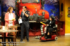 Stage scene with car
