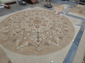 Center turntable carpet