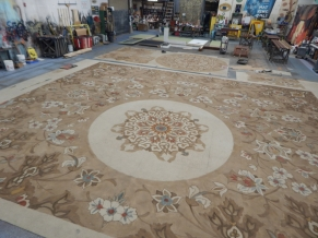 Painted carpet rug in shop